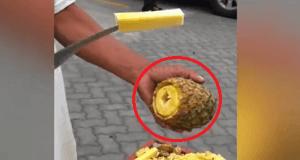 Cómo pelar una piña