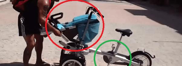 Dos en uno: silla de bebe y bicicleta