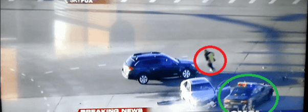 Huyendo de la policia estilo grand theft auto