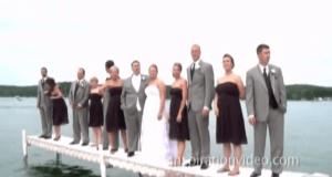 Posarón para la boda pero acabarón en el agua