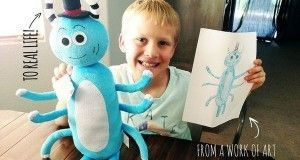 Crear un peluche a partir del dibujo de un niño