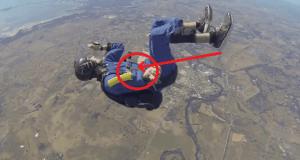 Le salva la vida a este paracaidista