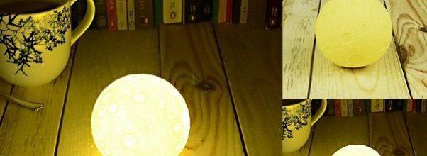Lámpara luz de luna, ilumina tu habitación.