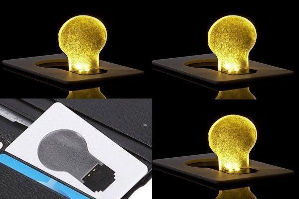 Bombilla led portátil con forma de tarjeta de crédito