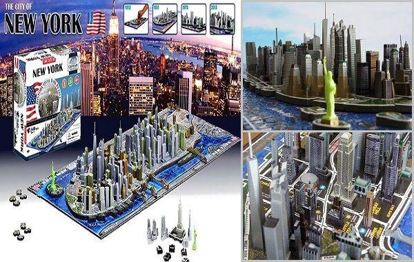 Puzzle de New York en 4D. ¡Original y único!