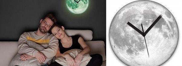 Reloj de pared luna