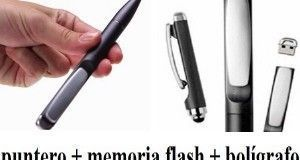 Stylus 3 en 1 (bolígrafo, puntero y pendrive)