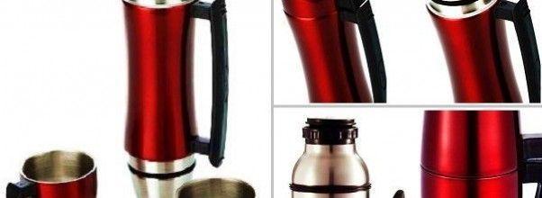 Termo revolucionario color rojo metalizado