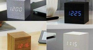 Reloj despertador cube click clock