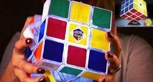Original Lámpara y Cubo de Rubik