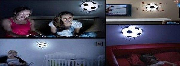 Lámpara decorativa original con forma de balón de fútbol ¡Ideal para futboleros!