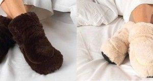 Originales zapatillas para estar por casa que se pueden calentar en el micro-ondas ¡Mantén calentitos tus pies!