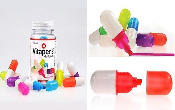 Marcadores conforma de píldoras