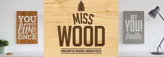 Miss wood: carteles de madera y cuadros originales con estilo nórdico