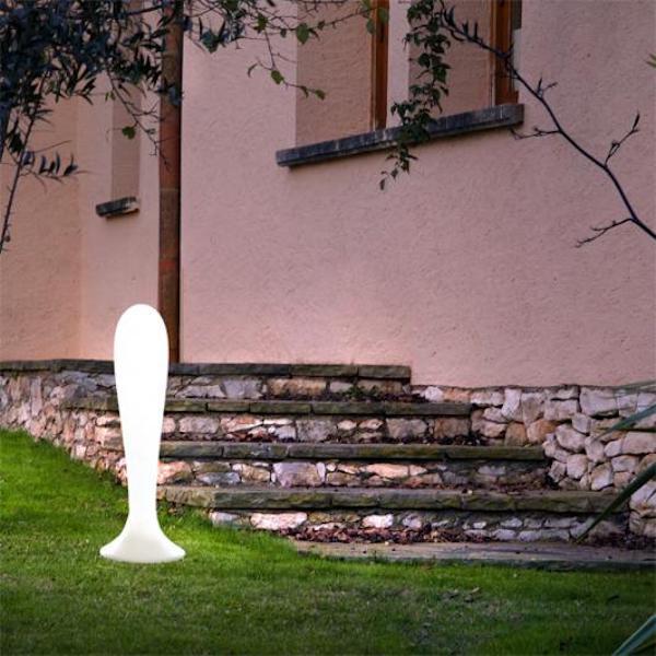 iluminacion exterior lampara pie