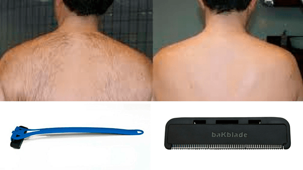 como afeitarse la espalda por si mismo