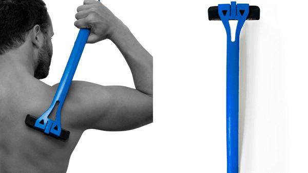 como afeitarse la espalda uno solo